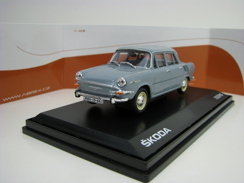 Škoda 1000MB 1964 Navy Gray 1:43 Abrex